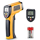 Infrared Thermometer, Non Contact Digital Laser Thermometer IR Thermometer Temperature Gun Instant Read Thermometer for Food Refrigerator Pool Oven -58~ 842 (-50 ~ 450)