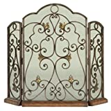 Ambella Home Collections 05127-460-001 Scrolled Iron 3-Panel Fireplace Screen