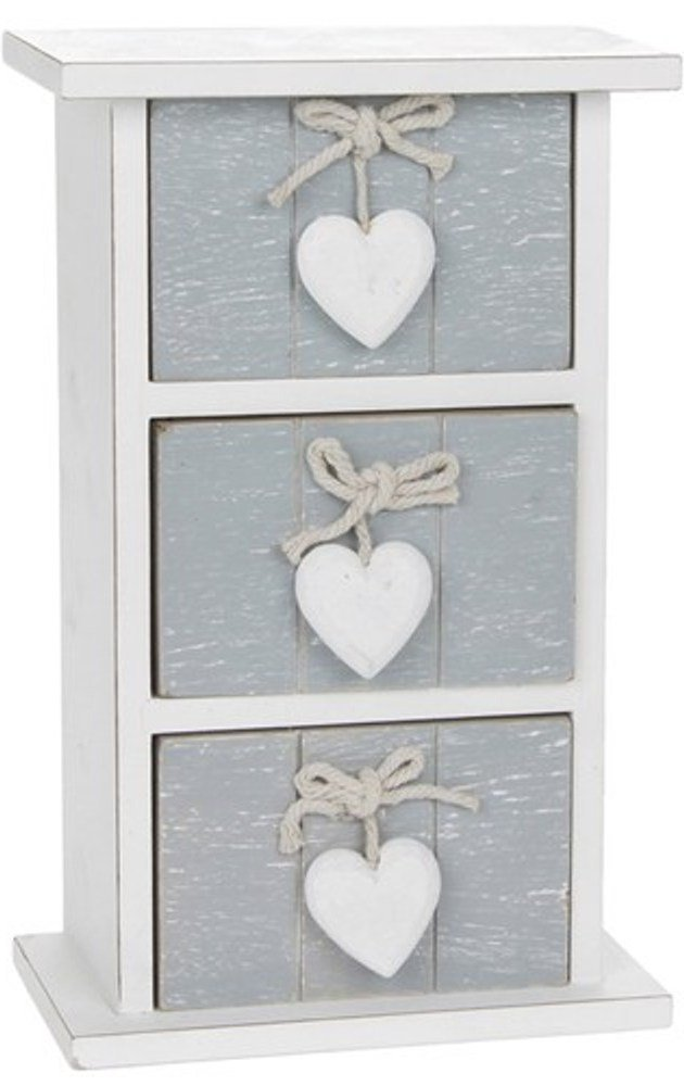 QUALITY PROVENCE GREY SHABBY CHIC 3 DRAWER MINI CHEST HOME DECOR NEW AND BOXED by SC Gifts