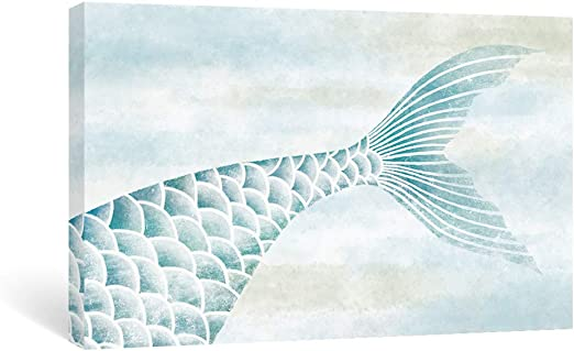 Amazon Com Sumgar Mermaid Wall Art Bathroom Blue Ocean Pictures