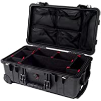 CVPKG Presents Black Pelican 1510 case, with TrekPak Divider System. Comes with 1519 lid org. and 2 TSA Locks.