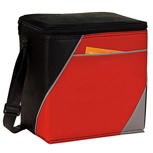 Sealed Heat Lining (Eunichara IT 8 Pack Cooler Lunch Bag 210D PU Diamond Non Woven Polypropylene Insulated, heat-sealed PEVA Lining Reusable, Spot Clean/Air Dry - Red)