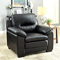 HOMES: Inside + Out ioHOMES Stewart Leatherette Chair, Black
