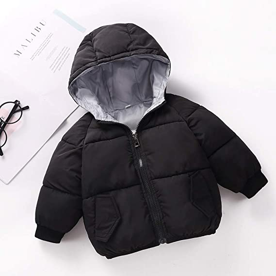 Holywin Toddler Baby Boys Girls Autumn Winter Hooded Coat Cloak Thick Warm Clothes