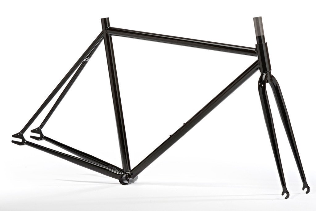Pure Fix Original Fixed Gear Bicycle Frame Set, 50cm/Small, Gloss Black