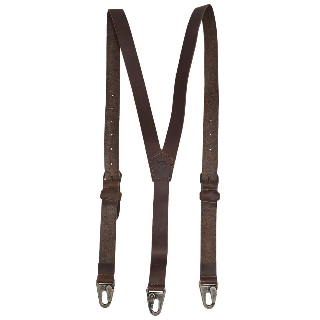 Hide & Drink, Rustic Leather Y Suspenders Wedding & Party Essentials (Medium 5'3'' to 5'9'') Handmade Includes 101 Year Warranty :: Bourbon Brown