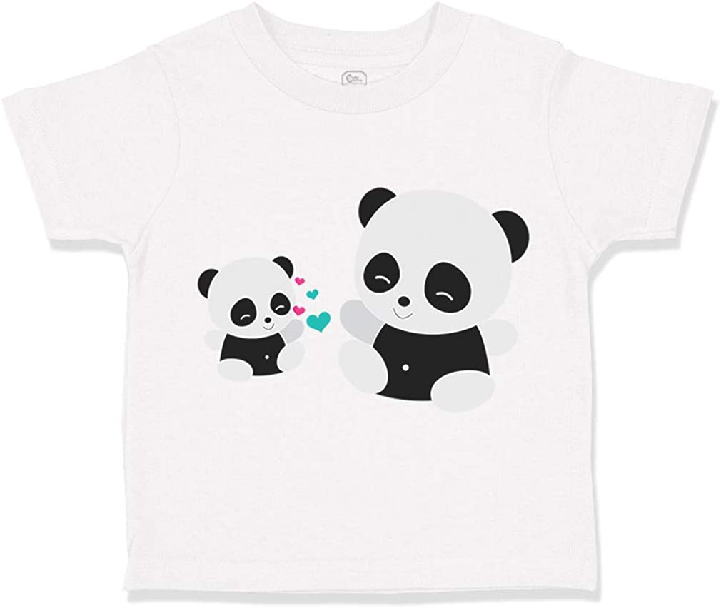 Shatel Clothing Cute Panda Personalised Baby Toddler T Shirt Kids Funny Gift Cute 01
