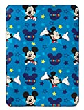Disney Mickey Mouse Plush Travel Blanket, Blue Throw