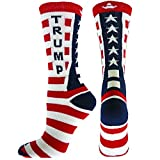 Red Lion Donald Trump Republican Crew Socks ( Red / White / Navy - Large )