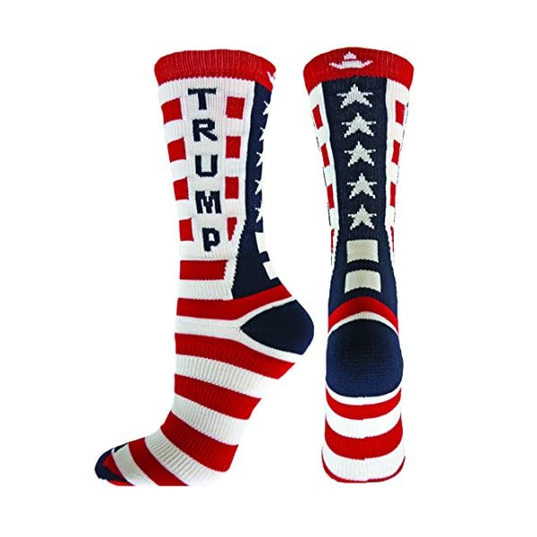 Red-Lion-Donald-Trump-Republican-Crew-Socks-Red-White-Navy-Large