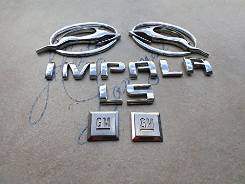 (05-09 Chevy Impala Ls Leaping Deer Door 10424490 Logo 10424491 Badge 15223483 Tailgate Emblem Decal Stickers Set)