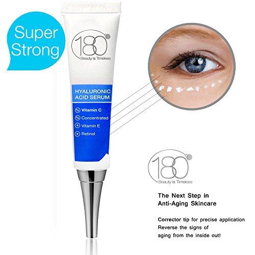 Hyaluronic Acid Vitamin C Facial Serum Strong- 180 Cosmetics