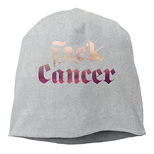 YUVIA Fuck Cancer Men's&Women's Patch Beanie TravellingAsh Cap For Autumn And Winter