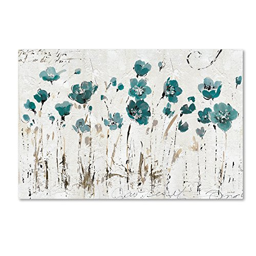 "picture of Trademark Fine Art Abstract Balance VI Blue Wall Decor by Lisa Audit, 22"" x 32"""