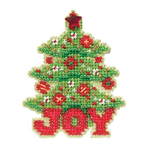 Joy Tree Beaded Counted Cross Stitch Christmas Ornament Kit Mill Hill 2012 Winter Holiday -