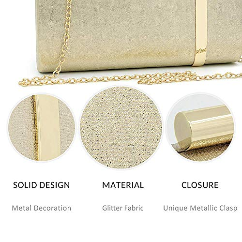 Evening Cocktail Bridal Embossing Clutches Women's Handbags Clutch Purse Superw Bag Gray Glitter pRZIqw