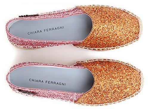 Número naranja Chiara CF897 rosa Alpargatas naranja en Ferragni de modelo brillo de wg0XXUqn7F
