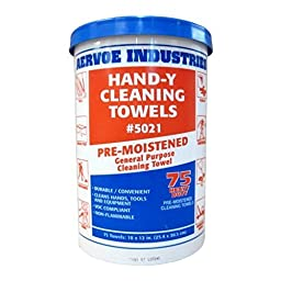 Hand-Y Pre-Moistened Cleaning Towel (75/Pail)