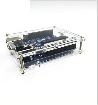 WKELECTRONDE-Caja Transparente de acrílico Transparente de la Caja de acrílico de 5PCS Uno Caja Transparente de la Caja de acrílico para Arduino UNO R3: Amazon.es: Electrónica
