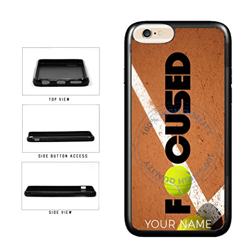 - BleuReign(TM) Tennis Personalized Custom Name Focused TPU RUBBER SILICONE Phone Case Back Cover For Apple iPhone 8 Plus and iPhone 7 Plus