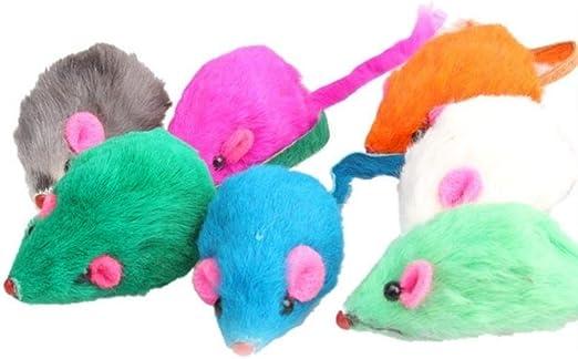 GOUSHENG 1 / 5pcs Juguetes para Gatos Falso Ratón Juguetes Interactivos Mini Ratones Divertidos Animales de Peluche Juguetes para Gatos Juguetes para Gatos Suministros para Mascotas, d, 1PCS: Amazon.es: Productos para mascotas