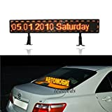 Leadleds DC12V Larger Sign Led Car Rear Window Message Board with Over 45 Kinds Moving Action - Programmable (Heavy Duty Brackets and 9FT Cable Included)