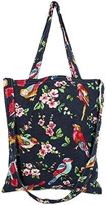 Patrón eDealMax la flor del algodón de lino Señora de compras Comida titular del hombro bolso de lona de mano bolsa de asas