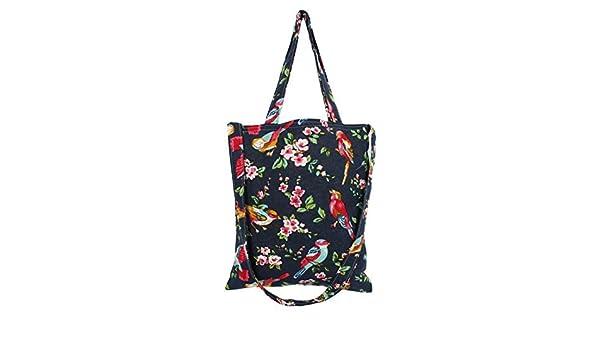 Amazon.com: Patrón eDealMax la flor del algodón de lino Señora de compras Comida titular del hombro bolso de lona de mano bolsa de asas: Kitchen & Dining