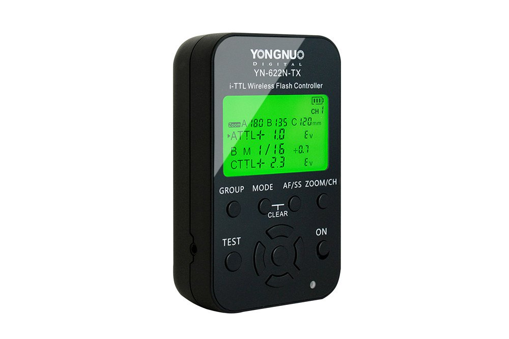 YONGNUO YN622N-TX Wireless TTL Flash Controller Transmitter with LCD Display working with HSS& Full Function for Nikon