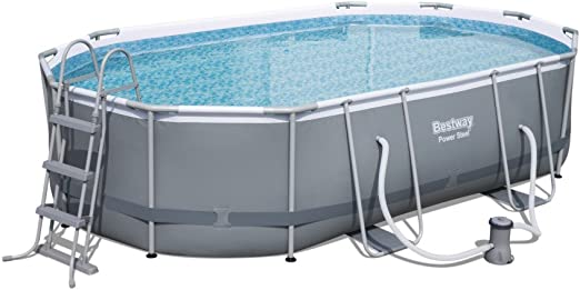Bestway - Piscina Oval Power Steel Frame con alfombra de suelo ...
