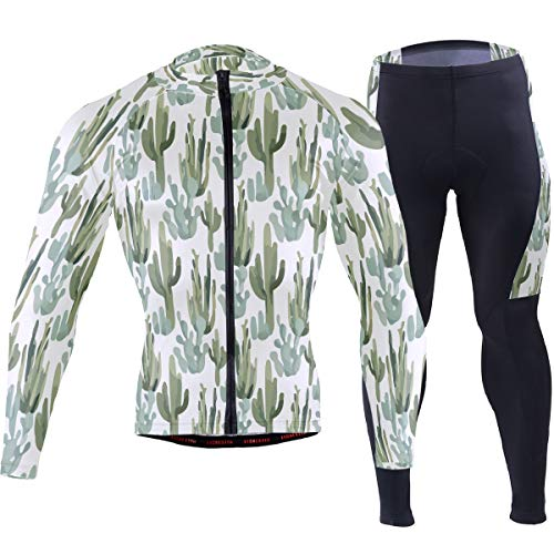 Desert Cactus Arizona Men's Cycling Jersey Set Breathable Quick-Dry MTB Road Bike Luxury Black