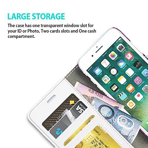 iPhone 8 / iPhone 7 Funda ZUSLAB [Detachable Pattern] 2-en-1 Cuero Sintético en Diseño Libro, Funda extraíble, Carcasa plegable cartera Con Cierre Magnético, Tarjeta Bolsillo Cubierta, Ranuras para ta Mandala Oscura