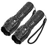 Tactical Flashlight iCoostor T6 Handheld LED Torches Flashlight Super Brightness Waterproof Taclight As Seen On Tv5 Modes Zoomable Focus For Outdoor