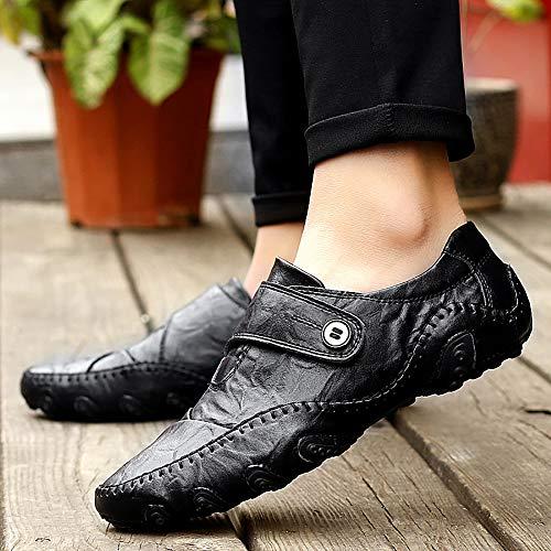 Los Hombres De Pescados Tamaño Garras Casuales Gran Los De Los De Cuero De Guisantes De W Zapatos 39 Ocho De Sólidos Black De Zapatos Zapatos Black De Los Hombres amp;TT vEqz6z