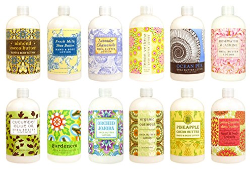 Cream Sampler - Greenwich Bay Trading Co. Hand & Body Lotion Sampler Set, 2 Ounce, 12 Pack