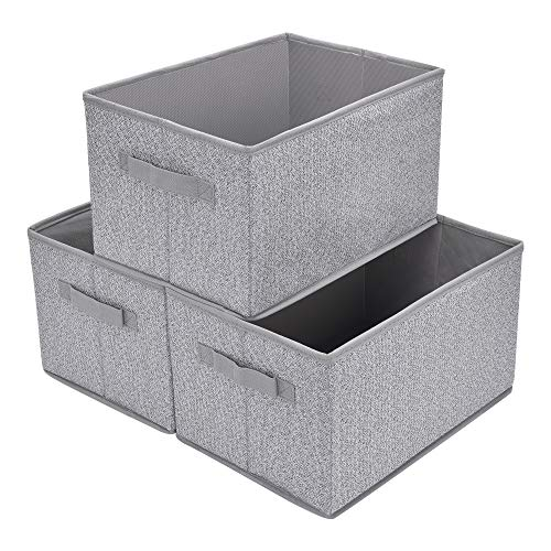 Sea Team 17.7 x 11.8 x 9.8 Square Natural Linen /& Cotton Fabric Storage Bins Shelves Storage Baskets Organizers for Nursery /& Kids Room Whale