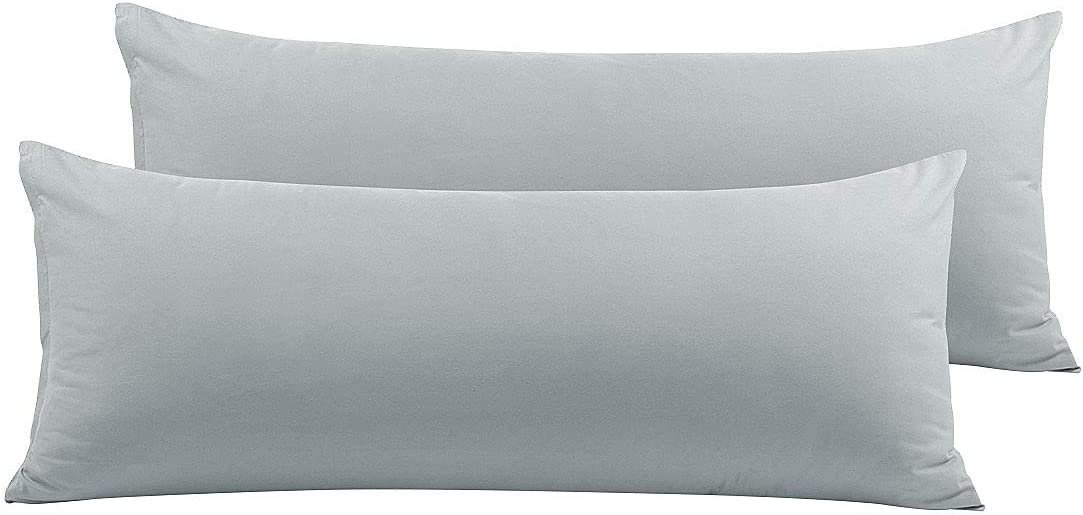 PiccoCasa 2 Packs Body Pillow Cover, 110 GSM Brushed Microfiber, Body Pillow Pillowcase, Body Pillow Cases with Zipper Closure for Long Pillows Body(20