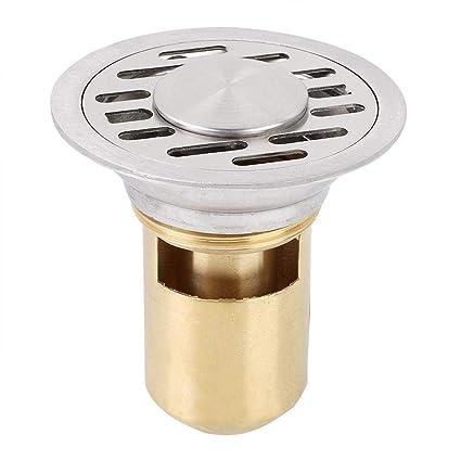 Zerone Scarico a pavimento 01 Doccia in acciaio inossidabile Scarico del bagno Scarico canalina Perdita rotonda 7,5 cm