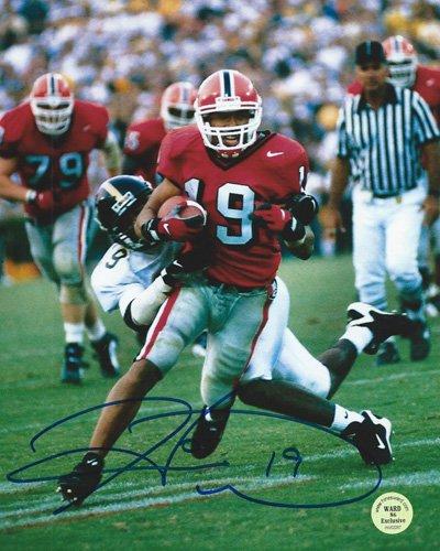 "b63099f056c Hines Ward Autographed/Signed Georgia Bulldogs 11x14 NCAA Photo ""Red  ..."