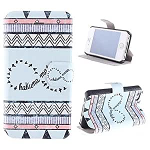 JJE Birdie PU Full Body Case with Card Slot and Stand for iPhone 4/4S