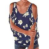 UONQD V Ausschnitt Oberteile Damen Kreuz Pullover Langarmshirts Tops Hemd Shirt(Small,Navy-B)