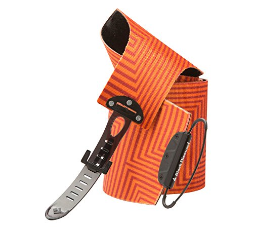 Black Diamond Ascension Nylon STS Climbing Skins BD Orange 110 mm and HDO Lite E-tip Gloves with Grippers