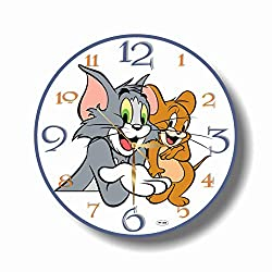 Art time production FBA Tom and Jerry 11.8'' Handmade Unique Wall Clock - Get Unique décor for Home or Office - Best Gift Ideas for Kids, Friends, Parents