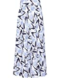 EDZ Women's Nadyne 2.0 Tulip Printed Long High Waist Maxi Skirt Muslim Extra Large White