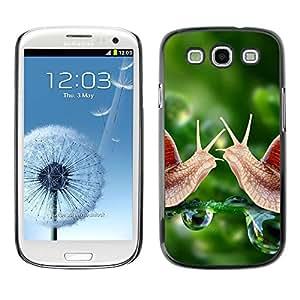 Caucho caso de Shell duro de la cubierta de accesorios de protección BY RAYDREAMMM - Samsung Galaxy S3 I9300 - Snail Green Dew Nature Green Spring