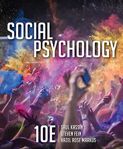 1305580222 - Social Psychology (MindTap for Psychology)