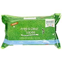 Seventh Generation Thick & Strong Free and Clear Baby Wipes, 384 Count by Seventh Generation
