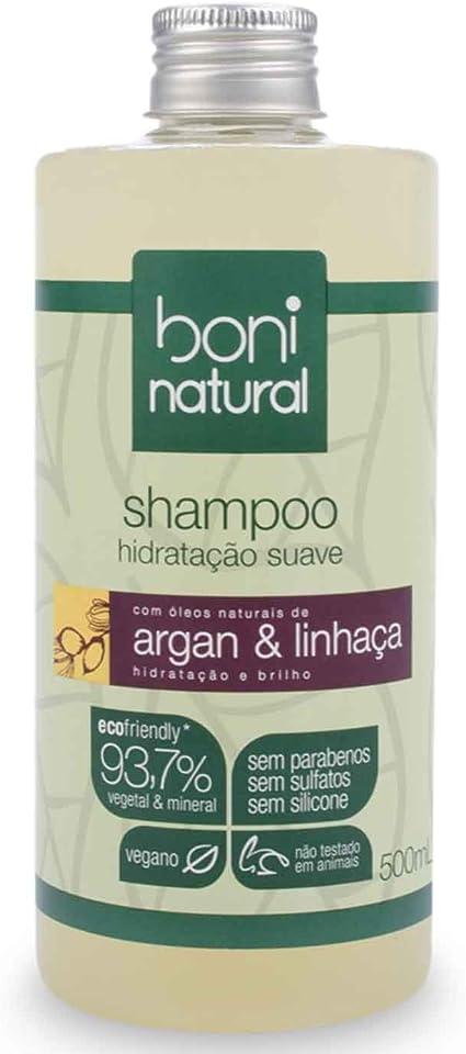 Shampoo Boni Natural Argan e Linhaça, Boni Natural