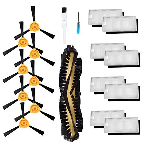 - Theresa Hay Accessories Kit for Ecovacs Deebot N79S N79 Robotic Vacuum Cleaner Filters, Side Brushes,Main Brush ¡­ (1+8+8)