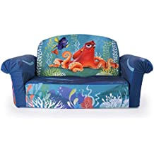 Marshmallow Furniture, Children's 2 in 1 Flip Open Foam Sofa, Disney Pixar Finding Dory, by Spin Master